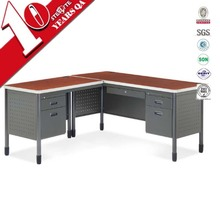 Modern office computer top 5 china office furniture supplier L shape office table
