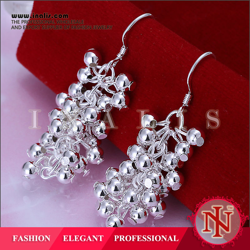 Exquisite grapes design party women beaded earring E008