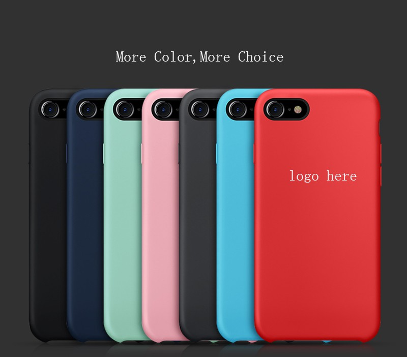 6S colorful original silicon mobile case phone covers factory price for iphone 6 7 promotion now!