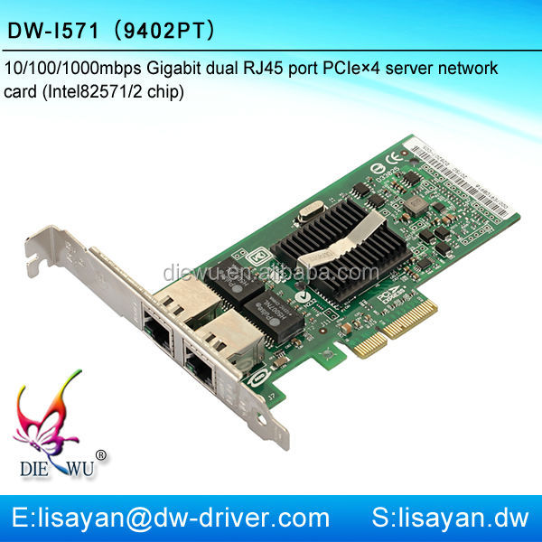 Hot Gigabit Intel 82571 9402PT dual port 1g PCI-e network adapter