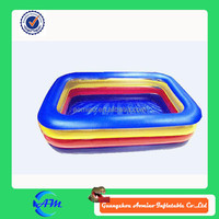 Custom chinalarge inflatable swimming pool, funny indoor portable swimming pool different color
