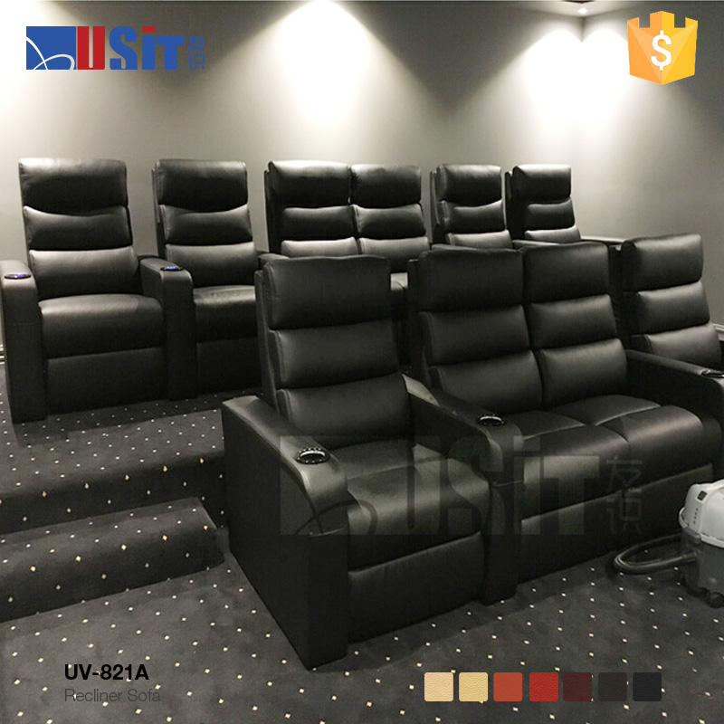 UV-821A Home theater cheers leather sofa recliner