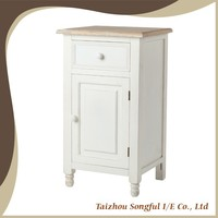 China Best Seller White Bedroom Furniture, Wooden Bedside Table, Nightstand