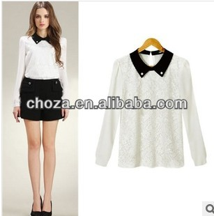C60814A 2013 NEWEST POPULAR DESIGN LADY'S BLOUSE