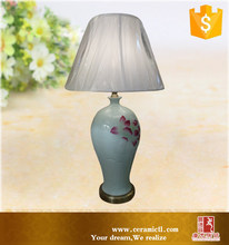 Chinese Bedside Ceramic Table Lamp With Antique Hand Painted