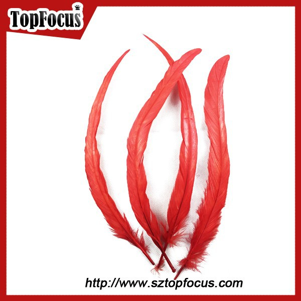 christmas decorations with natural long cheap grizzly rooster feathers