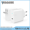 Tommox type c qc3.0 wall charger for mobile phone/wall charger for Macbook