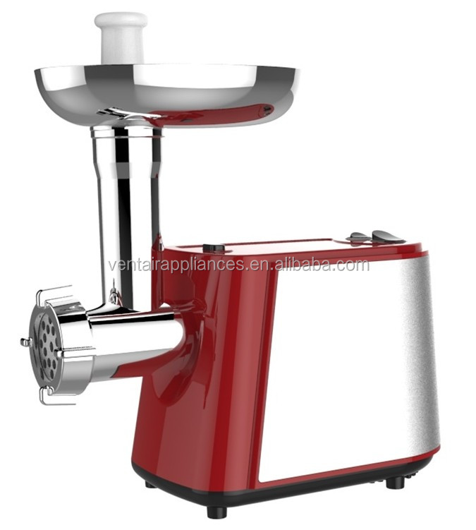 Power 1500W stainless steel housing Electric Meat Grinder with GS CE EMC RoHS Approvals