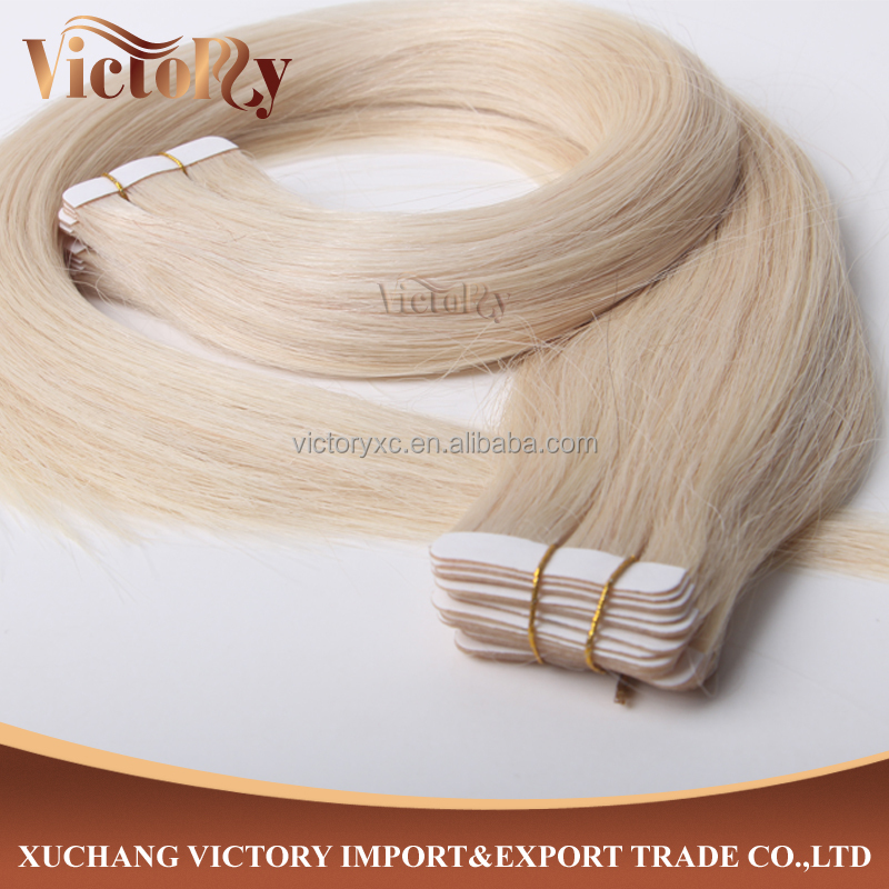 Super Thick End 8A Grade High Quality Super skin weft/ Tape #60 BrazilianHuman Hair Extension
