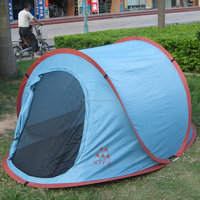 High quality anto pop up boat shpe outdoor tent for 1-2 person