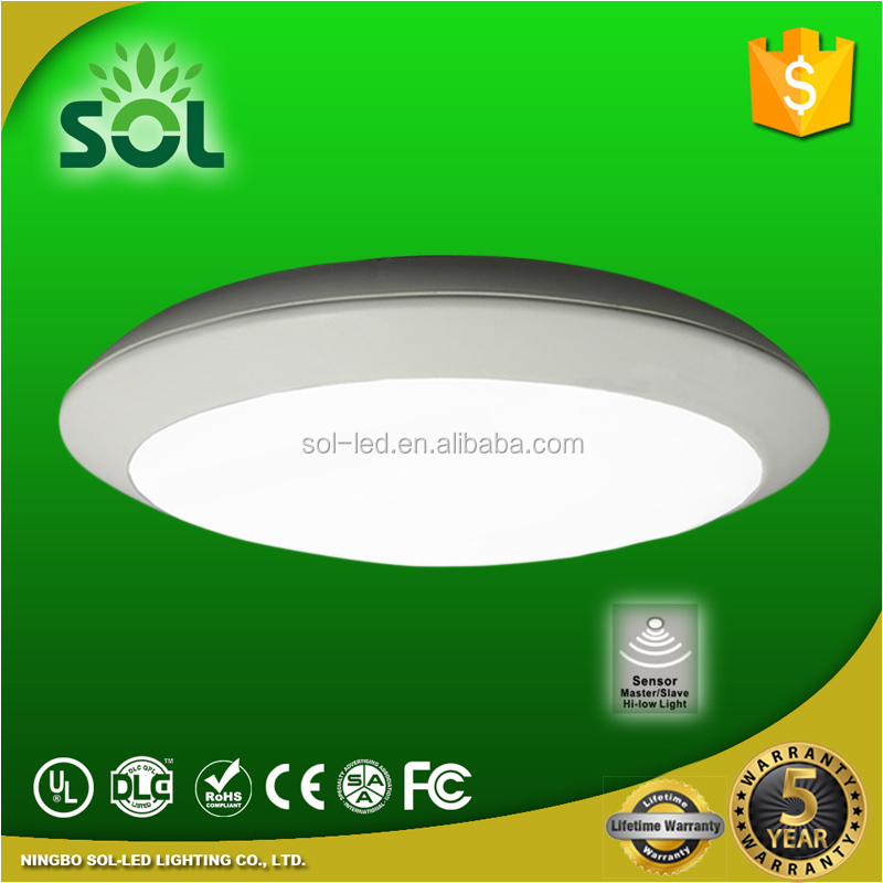 Modern design IP65 LED motion sensor ceiling light