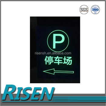 Less labor and direct engraving abs luminous rigid plastic sheet