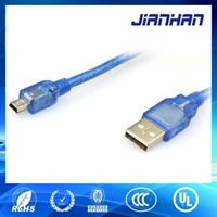 high quality usb 2.0 to mini usb cable for electronics equipment charging and data