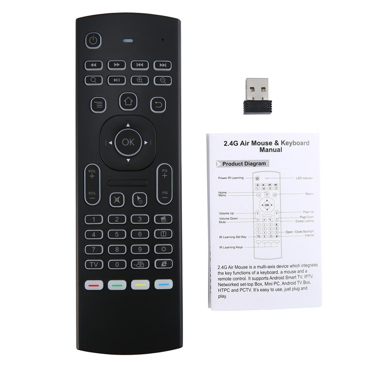 MX3 2.4GHz Air Mouse and Mini Wireless Keyboard Combo for Android TV Box