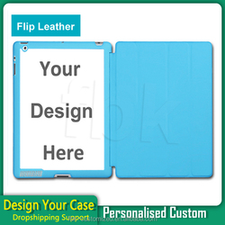 Hot Selling tablet case for iPad 2 3 4 Leather Flip Cover Case Custom Design