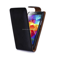 New Arrival Plain Flip Leather Case Cover for Samsung Galaxy S5 mini