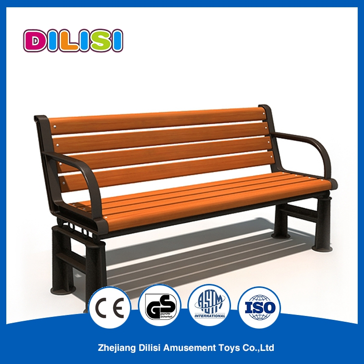 Cheap Waterproof WPC Public Long Chair Outdoor Garden Benches