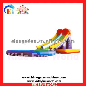 Commercial grade inflatable water slides with water pool