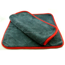 "800gsm 16x16"" Plush Microfiber Car Cleaning Cloth Car Wash Towel"