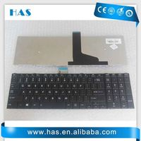 Hot selling Laptop keyboard for Toshiba C50 C55D US black glossy black frame