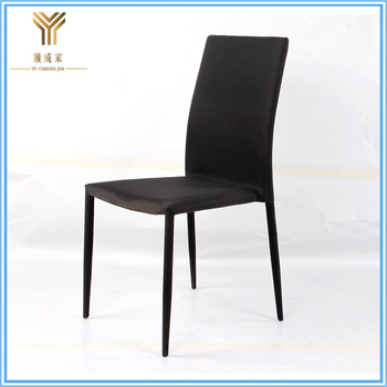 New model soft luxury fabric dining chairs for sale