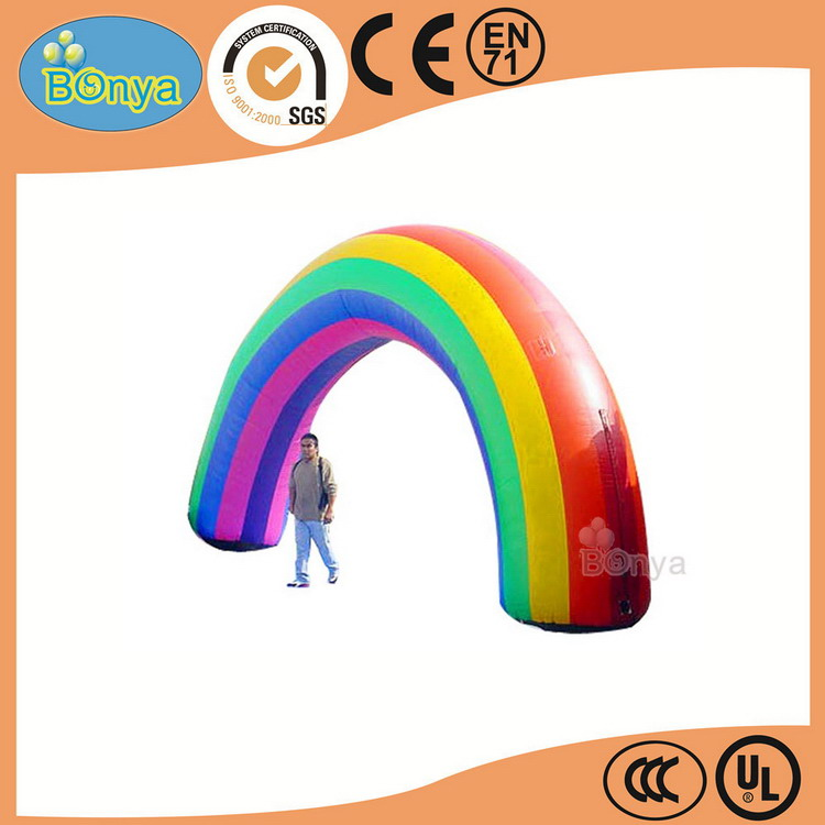 Factory customized advertising inflatable christmas arch