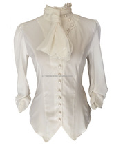 thumbnail_Ivory Renaissance Steampunk Gothic Blouse Top Women with neck tie scarf