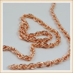 special looking rose gold chain by meters/ new gold chain design for men
