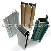 white/green/black color Powder Coated Aluminum Profiles