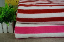 wholesale multicolor stripe 100%poly polar fleece winter cloth fabric brushed fabric for sale