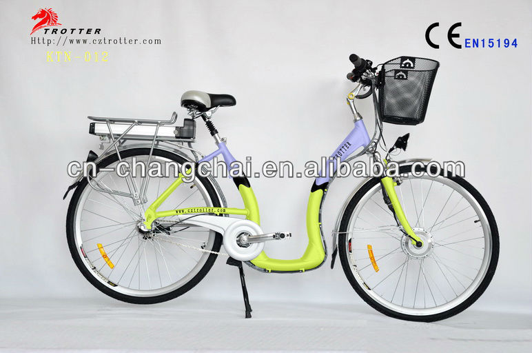 traditional low step through holland style city electric bicycle for elders