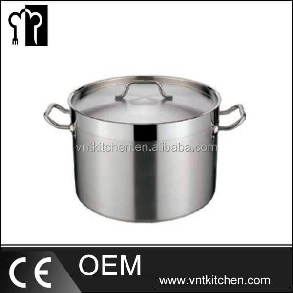 Stainless Steel Composite Bottom stew cooking pot with cover hotel equiment
