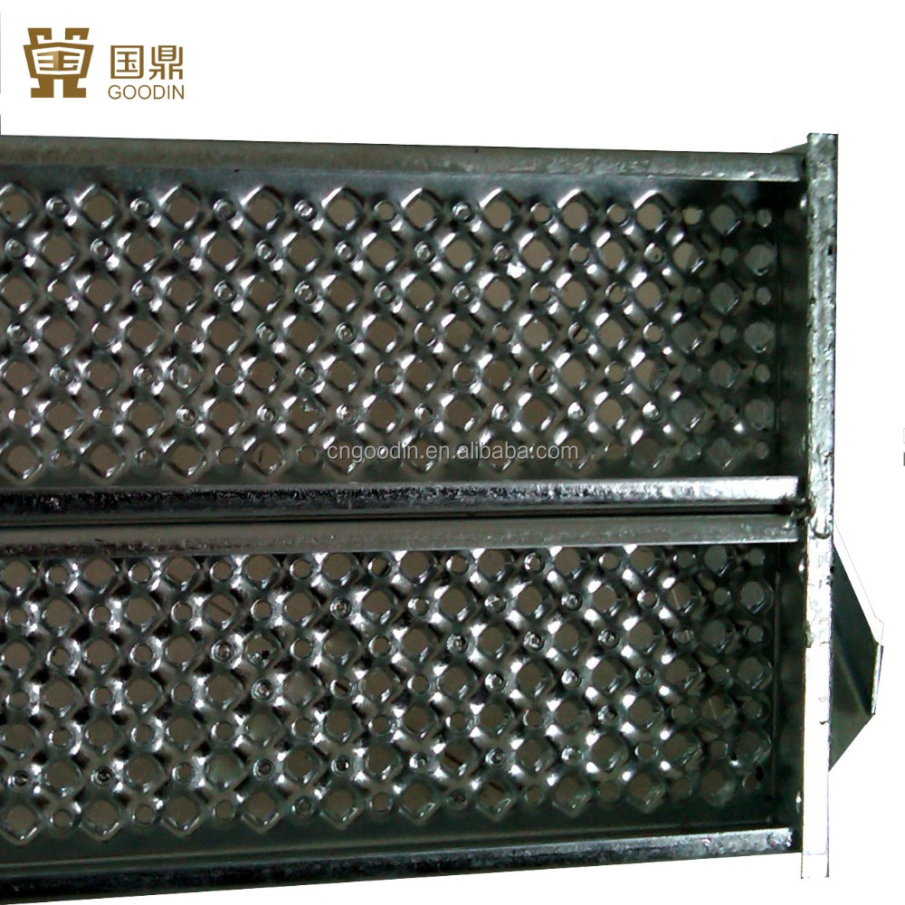 OUTDOOR PERFORATED METAL STAIR TREADS COVERING