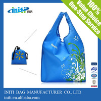 Alibaba express alibaba supplier wholesale flower reusable shopping bag folding nylon bag