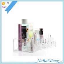 Great acrylic make up display cosmetic organizer box