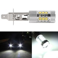 H1 LED for 80W White cars Fog lights Daytime Running Bulb auto Lamp Vehicles h1 led high power parking car light source