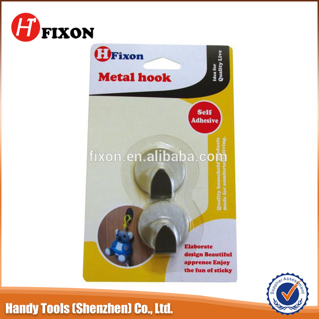 Good quality round self adhesive stainless metal hooks