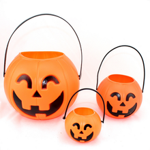 Large plastic halloween pumpkin lantern lights