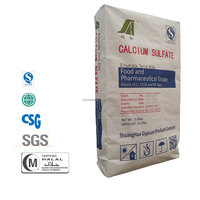 China factory of calcium sulphate dihydrate / gypsum plaster/25 kg paper bag