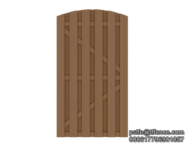 Wood Plastic Composite Fencing Door And Gate