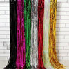 Best Selling Foil Fringe Backdrop Tinsel Metallic Fringe Curtains Shinny 1x2M For Party Accessory