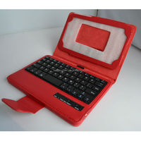 3.0 compliant PU leather+silicone bluetooth keyboard case for IPAD 2/3