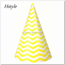 Party Paper Hats, Pink Green Blue Red Black Yellow Colors, Birthday Party Baby Shower Decoration Cones SB008