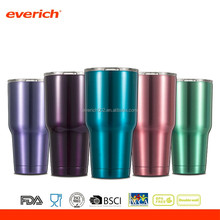 Vacuum insulated stainless steel tumbler 30oz with straw