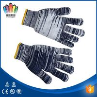 FT SAFETTY High quality Korean market 10gauge 21cm 480g bleach natural white cotton gloves