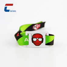 New fashion nfc disposable children tracking fabric woven cheap price rfid wristband