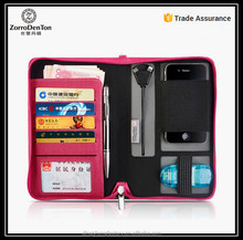 Multifunctional fashion folder portfolio case with phone case