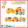 Qualified 15Pcs New Funny Wooden Stacking Train Toys For Kids
