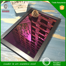 Top selling color 201 304 316 430 mirror harden stainless plate for elevator decoration