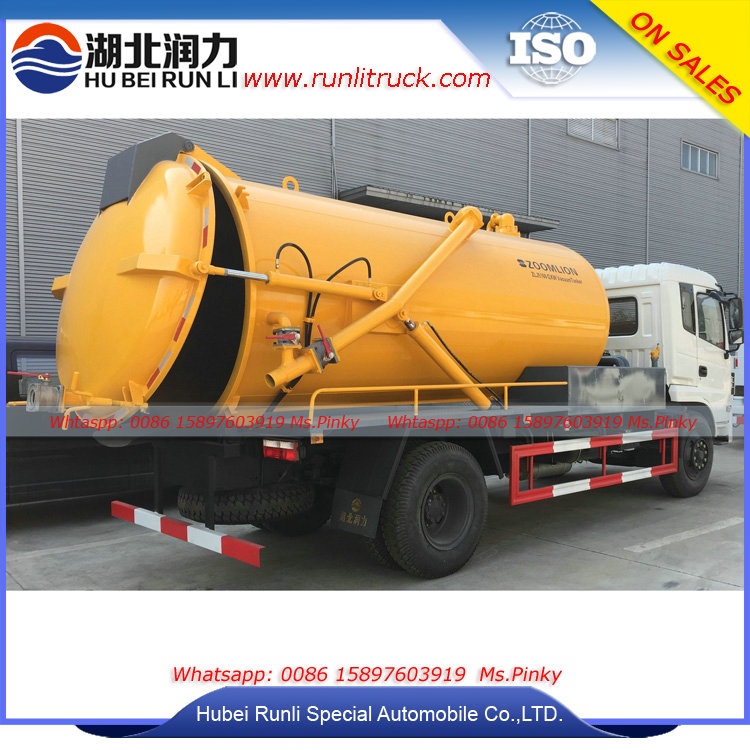 New Model Sewer Cleaning Truck 10Tons Vacuum Tank Mounted on Vehicles